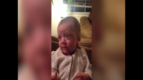 """Tiny Baby has best """"Surprised"""" Face"""
