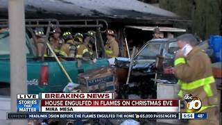 One dead after Mira Mesa house fire - Video