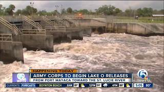 Army Corps releasing water from Lake Okeechobee after Irma - Video
