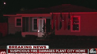 Suspicious fire damages Plant City home - Video