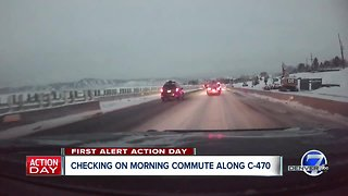 Traffic conditions slow across Denver metro area after snowstorm