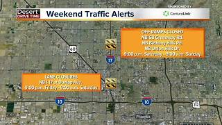 Six roads to avoid this weekend in the Valley - Video