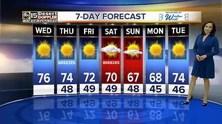 Cooler temperatures in the Valley are on the way - Video