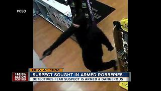 PCSO: unknown suspect behind three armed robberies in as many days - Video
