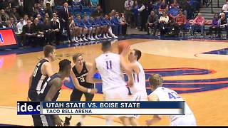 BSU holds off Utah State 71-67 behind Hutchison - Video