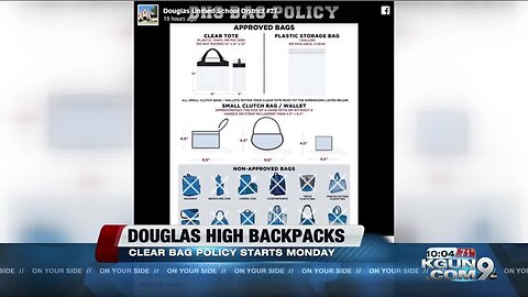Douglas High School implements clear bag policy