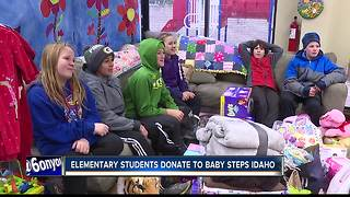 Elementary students donate to Baby Steps Idaho - Video