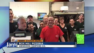 Box Hill Pizzeria in Abingdon says Good Morning Maryland