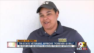 Tri-State veterans approve Forever GI Bill - Video