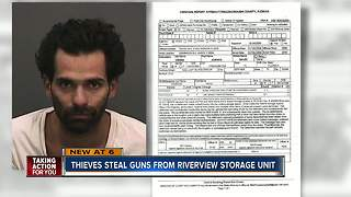More than a dozen guns stolen from storage facility in Riverview - Video