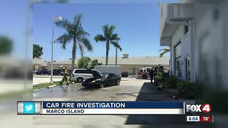 Car catches on fire on Marco Island