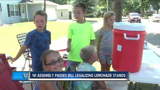 WI Bill legalizes lemonade stands - Video