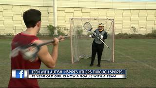 Lacrosse helps teenager with autism beat the odds, inspire others - Video