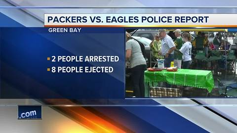 Two arrested at Packers preseason game vs. Eagles
