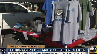 Fundraiser held to raise money for late Show Low officer's family - Video