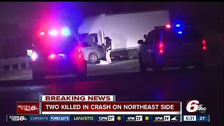 2 dead in head-on crash near I-465 on northeast side - Video