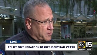 Police provide update on deadly light rail crash