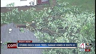 Midday storms down trees, power lines