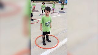 Funny Kids Try Hula Hooping - Video