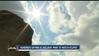 People gathered at Holliday Park to watch eclipse - Video