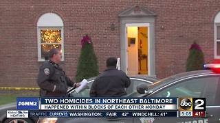 Two homicides in Northeast Baltimore - Video