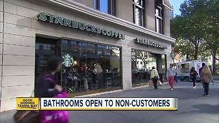 Starbucks CEO announces bathrooms open to non-customers - Video
