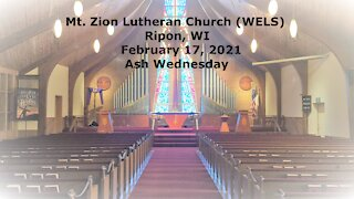 Mt. Zion Lutheran Church, Ripon, WI Ash Wednesday