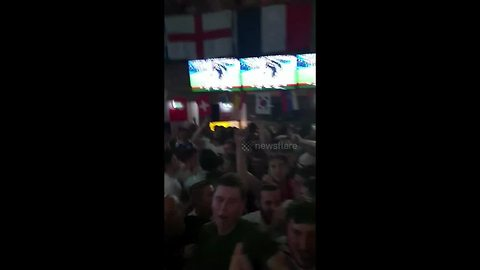 England fans sing 'Will Grigg's on fire' after final whistle against Tunisia
