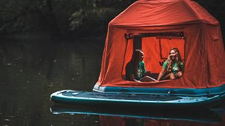 Amazing Floating Tent: The Ultimate Waterbed - Video