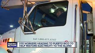 DTE workers heading to Puerto Rico to help restore electricity - Video