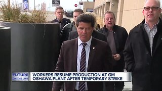 General Motors Oshawa plant workers stage another sit-down strike