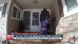 Mail carriers out in the elements