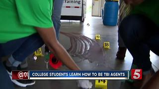 College Students Train To Become TBI Agents - Video