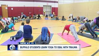 Buffalo students learn Yoga to deal with trauma - Video