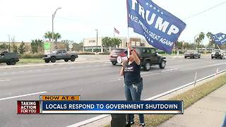 Local reaction to government shutdown