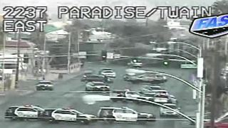 Las Vegas police investigating shooting near Paradise, Twain - Video