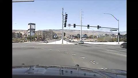 Crash involving Nevada Highway Patrol caught on camera