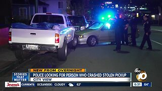 Search on for driver accused of crashing stolen truck
