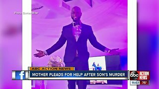 Mother pleads for help after son's murder