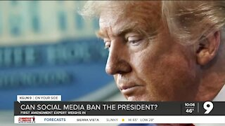 Can Facebook and Twitter ban the president?