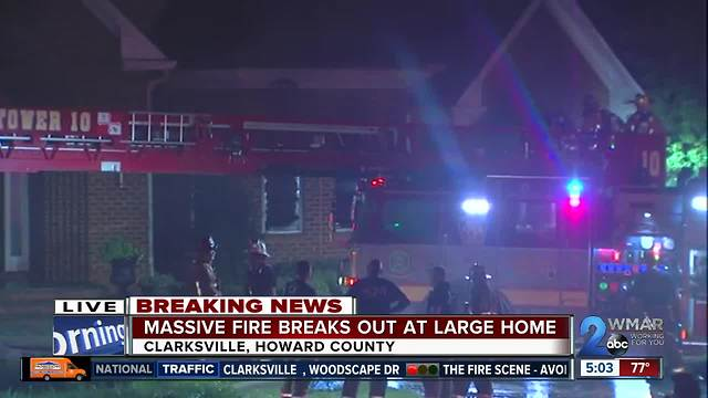 Seven-Alarm house fire in Clarksville