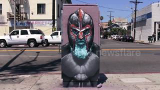 Amazing street art stop-motion animation in LA - Video