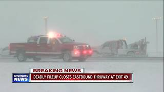 Deadly pileup closes Eastbound Thruway at Exit 49 - Video