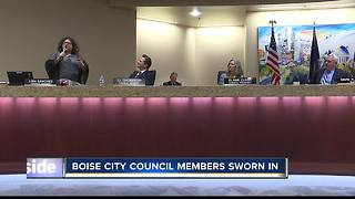 Boise City Council members sworn in - Video