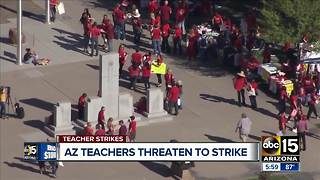 Arizona teachers planning walk-ins as they call for higher pay - Video