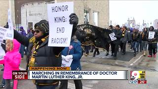 March in remembrance of Martin Luther King Jr. - Video