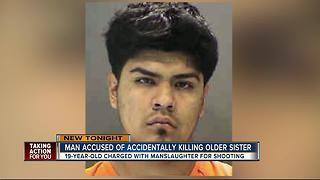 19-year-old charged with manslaughter after accidentally shooting his sister - Video