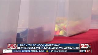 Bakersfield Police Activities League and Target partner up to give kids free school supplies - Video