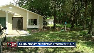 Sinkhole repair classification worries owners - Video