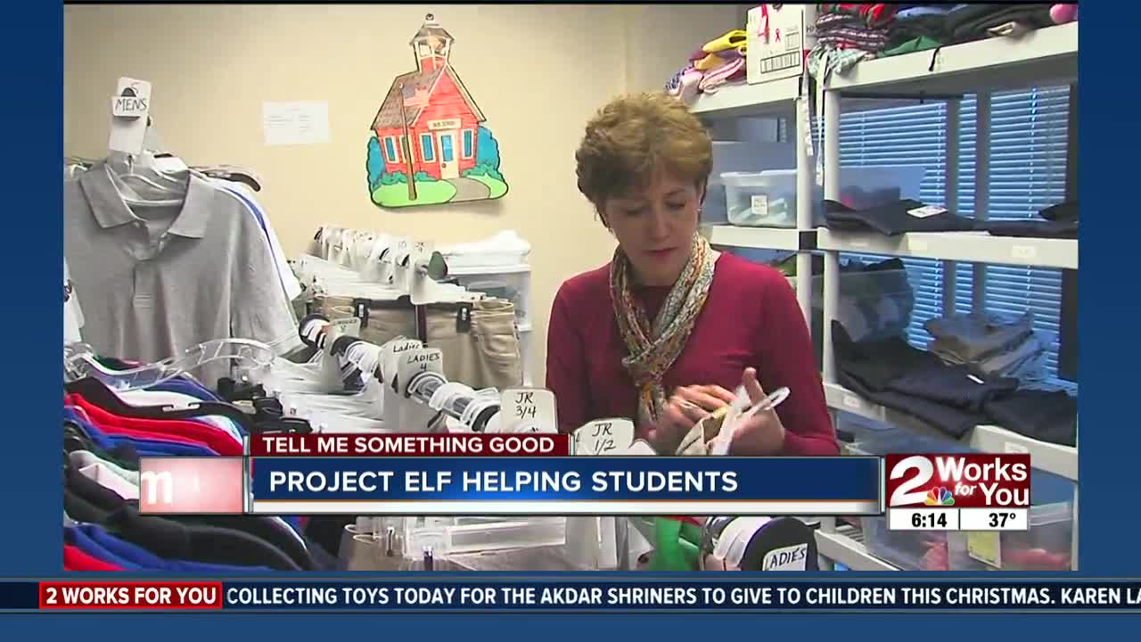 Project Elf helping students at Tulsa Public Schools